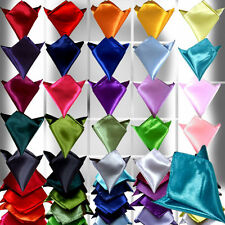 Men Gorgeous Italian square Silky Satin Wedding Party pocket Hanky Handkerchief