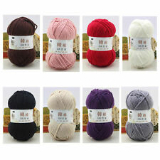 100g / Ball Super Soft Cotton Hand-knitted Wool Yarn 8 Colors Handmade Kniting