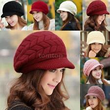 Womens Ladies Winter Warm Knit Cap Crochet Slouch Baggy Beanie Hat Beret EG96