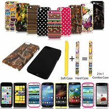 Shockproof Ruggeed Hybrid Impact Hard Soft Rubber Skin Combo Design Case Cover