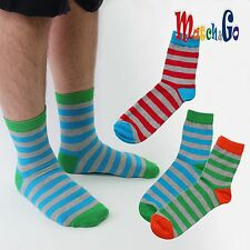 Meisterin Match&Go 6prs Women Men Color Stripe Quarter Cotton Socks Korea