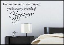 Happiness Life Quote Wall Sticker Bedroom Room Decal Mural Transfer Art Tattoo