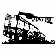 THE PIRATE BAY ON TOUR (downloading poster vintage anonymous piracy) T-SHIRT