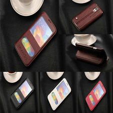 Luxury Flip Leather VIEW Window Stand Case Cover For Samsung Galaxy note phones