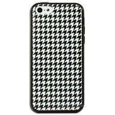 NEW Black White Houndstooth Back Case for Apple iPhone 6 5s 5 5C 6s Plus Cover
