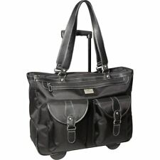 """Clark and Mayfield Marquam 18.4"""" Rolling Laptop Tote, Computer Handbag"""
