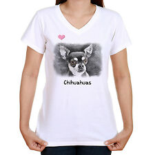 CHIHUAHUA IMAGE T SHIRT STANDARD OR LADYFIT OUR TEXT OR CHOOSE YOUR OWN