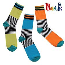 Meisterin Match&Go 5prs Women Men Color Stripe Crew Cotton Socks Korea