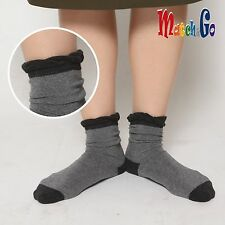 Meisterin Match&Go 5prs Women Men Ruffle Plain Crew Cotton Socks Korea