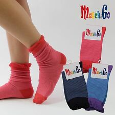 Meisterin Match&Go 5prs Women Men Ruffle Stripe Crew Cotton Socks Korea
