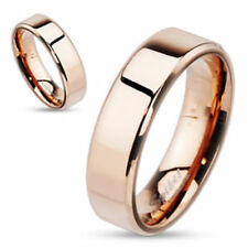 """Stainless Steel Men's Women's Ring Rosè Gold """"Flat Band"""" New -- Jewellery From"""