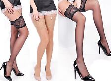 silky Straps-stockings 20 DEN WAFER THIN Wide Lace SMOOTH and smooth