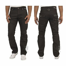 MENS BRAND NEW JEANS IN BLACK COLOUR STRAIGHT LEG ALL SIZES 28 TO 48