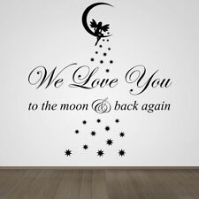 We Love You to the Moon & Back Vinyl Wall Art Sticker Childs Room Baby Nursery