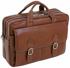 McKlein USA S series KENWOOD Leather Double Compartment Laptop Case