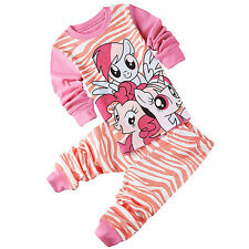 My Little Pony Outfit Baby Girls Clothes Cotton Pajamas Sleepwear T-shirt+Pants