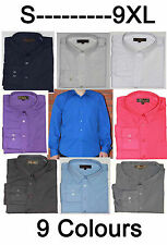 Mens Long Sleeve Shirt Formal Casual Size S - 9XL Outsize Plus Size  9 Colours