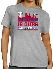Texas Rangers MLB Women's 2015 AL West Division Champions Shirt Gray Plus Sizes