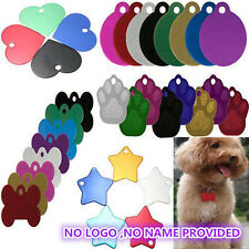 DIY Personalized Pet ID Tag Dog Cat Puppy Animal Name Tag Identity Card w/ Ring