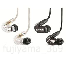 SHURE SE215-CL-J / SE215-K-J Canal type High sound isolating earphones F/S New