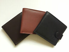 LONDON LEATHERGOODS MENS GENTS REAL LEATHER SLIM BIFOLD WALLET CREDIT CARD