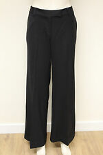 French Connection FCUK womens black wide leg fitted smart trousers size 14 4417B