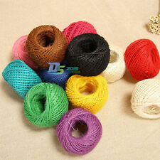 50m 3 Ply Twisted Hessian Burlap Natural Jute Twine Hemp Cord String DIY Craft