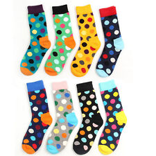 3 Pairs Lot Mens Womens Designer Fashion Dress Socks Polka Dot Multicolor 6-12