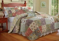 Blooming Prairie Quilted Reversible Quilt Pillow Shams AND Decorative Pillows