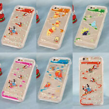 Lovely Cartoon Liquid Transparent Hard Back Case Cover For iPhone 6 6S Plus