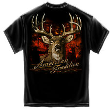 American Tradition T shirt Deer Hunter T-shirt Black Shirt