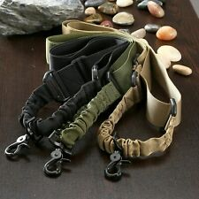 Tactical Adjustable 1 Single Point Bungee Rifle Gun Sling System Strap EC Hook