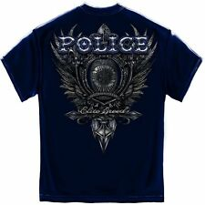 ELITE BREED T SHIRT POLICE CREST T-SHIRT SILVER FOIL SHIRT