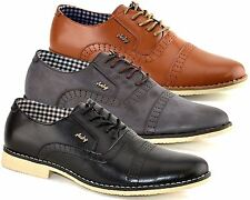 Mens Formal Smart Wedding Lace Up Deck Brogues Dress Driving Shoes Size 6-11