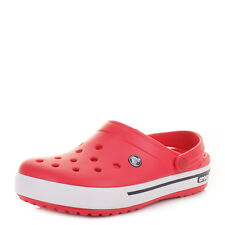 Mens Womens Unisex Crocs Crocband 2.5 Red Navy Clog Sandals Shoes Size