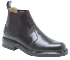 Roamers Chunky Sole Leather Chelsea Ankle Padded Boots