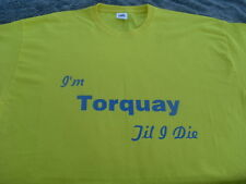 Torquay United T-Shirts & Sweat Shirts Inc 4XL & 5XL Personalised Birthday Gift