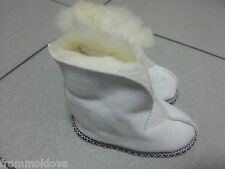 Baby & Toddler Genuine Sheepskin home house slippers shoes fur 100% SUEDE & WOOL