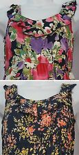CINNAMON Summer Hawaiian Floral Sleeveless Dress Size 2 Crepe Scoop Neck NBW