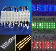 Molding Waterproof 3LED 5050 SMD RGB Warm/White Module Decorative Light Lamp 12V