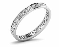 F/SI 0.75ct Round Brilliant Cut Diamonds Full Eternity Wedding Ring in 9K Gold