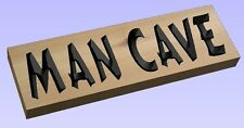 MAN CAVE PLAQUE, CARVED  WESTERN RED CEDAR WOOD SIGN, HOME DECOR