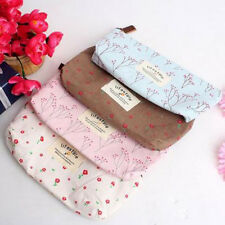 Convenient Vintage Flower Floral Pencil Pen Cosmetic Make up Storage Bag Purse