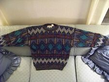 Men's Winter/Fall Santana Korea Blue/ Red Geometric Design Sweater $15.95