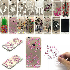 New Luxury Painted Clear Soft TPU Back Case Cover For Apple iPhone 5S 6 6S Plus