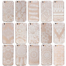 New Clear Matte Floral Flower Mandala Hard Plastic Case Cover For Mobile Phone