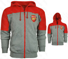 Arsenal Hoodie Soccer Gunners Premier League Official Licensed Hoody Gray Red