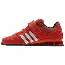 New Mens Adidas Adipower Weightlifting Shoes sz 16 Energy Red White V24382
