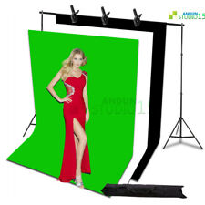 Photography Black White Green Backdrop Background Support Stand Kit