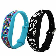 Dispensing Sticker 3D Wrist Band with Metal Buckle for Fitbit Flex Wristband #GB
